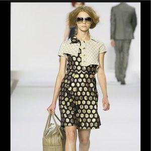 Marc Jacobs *RUNWAY* silk metallic polka dot dress